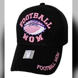 Pink & Black Football Mom Cap